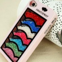 Waving Multicolor Rhinestones Case for iPhone