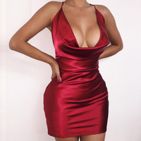RED PARTY COCKTAIL DRESS