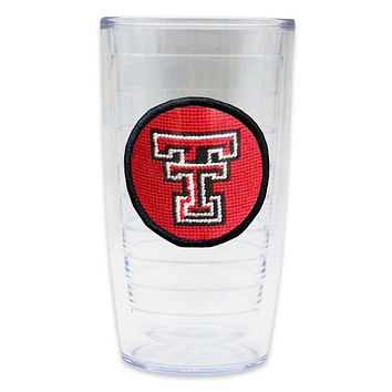Texas Tech Needlepoint Tumbler by Smathers & Branson