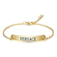 Versace New fashion letter print chain bracelet women