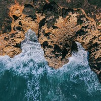 Aerial Cliff Photograph Art Print
