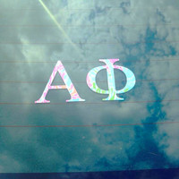 Lilly Pulitzer Monogram {Inspired} Car Decal Monogram Sticker 5 Inches