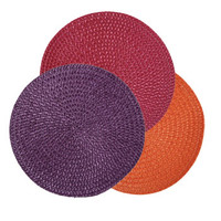 """Bulk The Home Collection Round Fall Fling Placemats, 15"""" at DollarTree.com"""