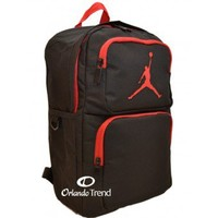 Nike Air Jordan 365 Deuce Black and Red Backpack for 14 inch Laptop 9a1440-391 at OrlandoTrend.com