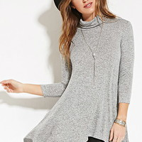 Marled Turtleneck Tunic