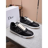 DIOR   Men Fashion Boots fashionable Casual leather Breathable Sneakers Running Shoes