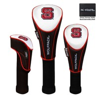 Team Effort North Carolina State Wolfpack 3-pc. Head Cover Set (White/Red)