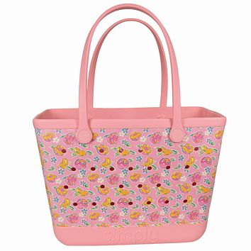 Simply Southern Large Peachy Beach Waterproof Washable Tote Bag
