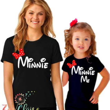 Mommy and Me Disney Shirts I Matching Minnie Family Shirts | Disney Family Shirts I Family Disney Shirts I Mommy and Me Matching Outfits