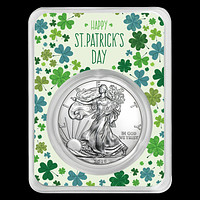 2019 1 oz Silver American Eagle - Happy St Patrick's Day (Clovers)