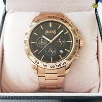 BOSS Fashion New Quartz Women Men Business Casual Watch Wristwatch 4#