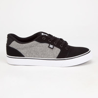 Dc Shoes Anvil Mens Shoes Black/Grey  In Sizes
