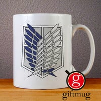 Attack of Titans Scouting Legion Logo Ceramic Coffee Mugs