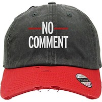 NO COMMENTS Distressed Baseball Hat