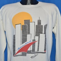 90s New York City Skyline Sunset Sweatshirt Large