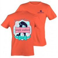 Preppy Mermaid Tee by Simply Southern in Coral. 100% cotton. Unisex - Runs bigger than normal size.BACK: