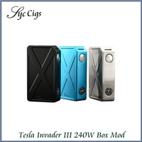 Original Tesla Invader 3 III 240W Box Mod Invader 3 Vaporizer Mod for 510 Thread Electronic Cigarette Vape Mod