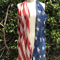 Beach coverup, American Flag poncho clothing, fourth 4th of July outfit, Red White and Blue, Stars and Stripes, Patriotic Scarf, PiYOYO - Edit Listing - Etsy