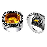 """AR-6035-CT-8"""" Sterling Silver Ring With Citrine Q."""