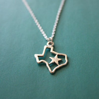 Don't Mess with Texans necklace, Texas charm, state pendant, star, America, state shape charm