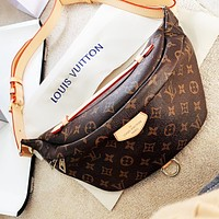 LV Louis Vuitton Men Women Classic Leather Waist Bag Crossbody Satchel Shoulder Bag