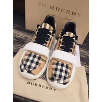 Burberry Newest Popular Women Hot Sale Retro Plaid Pattern Sport Shoes Sneakers I-ALS-XZ