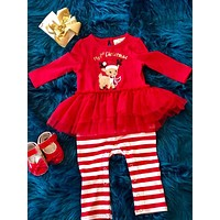 Rare Editions My First Christmas Reindeer Romper CH
