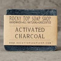 Bamboo Activated Charcoal Soap  All Natural by RockyTopSoapShop