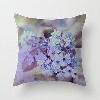 twilight bouquet Throw Pillow by Marianna Tankelevich