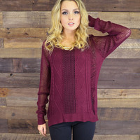 Heart Strings Ruby Cable Knit Sweater