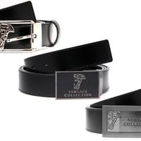 Versace Collection Men's Leather Belts