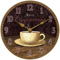 """Infinity Instruments 14"""" Dreamy Cappuccino Wall Clock"""