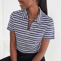 Russell Athletic Aella Striped Polo Shirt | Urban Outfitters