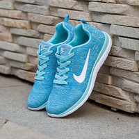 Blue Breathable Sneakers Sport Shoes