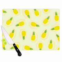 "Strawberringo ""Pineapple Pattern"" Yellow Fruit Cutting Board"