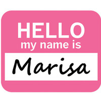 Marisa Hello My Name Is Mouse Pad