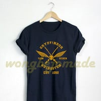 Gryffindor Shirt Gryffindor Quidditch Tshirt Harry Potter T Shirt Black Grey and Navy Color Unisex T-Shirt