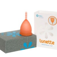 Lunette Menstrual Cup - Coral - Model 1 for Light to Medium Menstruation - Natural Alternative for Tampons and Sanitary Napkins