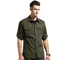 Military Uniforms Tactical Mens Camouflage Cardigan Jacket Coat