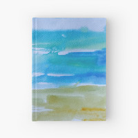 'Miami Beach Watercolor #7' Hardcover Journal by ANoelleJay