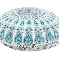 32' Round Mandala Tapestry Floor Pillows Cover Meditation Cushion Covers