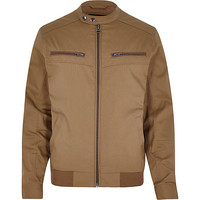 River Island MensBrown casual bomber jacket