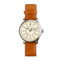 Mougin & Piquard For J.Crew Grande Seconde Watch In Cream