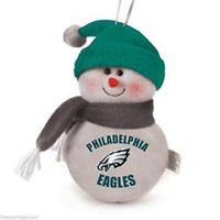 "Philadelphia Eagles 6"" Plush Snowman Ornament"