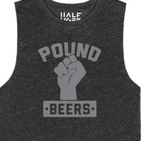 Pound Beers-Female Heather Onyx T-Shirt