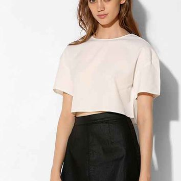 THE WHITEPEPPER Boxy Cropped Top- White