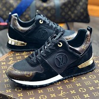 LV Louis Vuitton Run away Woman Men Fashion Casual Sneakers Sport Shoes