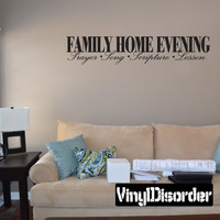 Family home evening prayer song scripture lesson activity treat prayers Child Teen Vinyl Wall Decal Mural Quotes Words FHE019VII