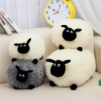 Cute Sheep pillow Lovely Stuffed Soft Plush Toys Cushion Sheep Character White/Gray Kids Baby Toy Gift home decoration