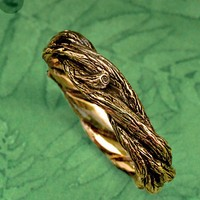 TWISTED TWIGS Wedding Band  This ring made in either by BandScapes
